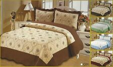 3 Pcs High Quality Embroidery Quilt Bedspread Coverlet Set