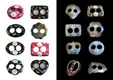 Sarong Tie Inlayed Shell Pareo Clip Shell Buckle Scarf Clip Toggle Shawl Clip