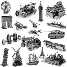 Cool Metallic Steel Nano 3D Jigsaw Puzzle Model No Glue Toy Xmas Gift Decoration