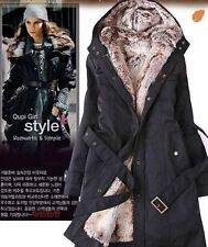 women's coat thicken fur winter warm coats overcoat long jacket