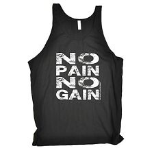 NO PAIN NO GAIN VEST ★ tank top body building fitness gold's Sex Weights gym