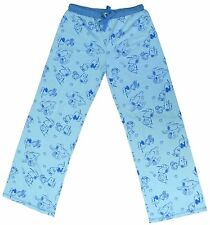 Registered Peanuts Pajama Lounge Blue Lucy Snoopy Pants 100% Cotton