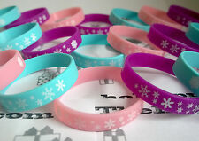 ❄FROZEN SNOWFLAKE WRISTBANDS❄PRINCESS❄PARTY BAG FILLERS❄KIDS GIRLS❄GAMES❄RUBBER