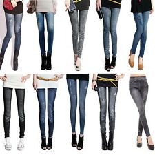 New Womens Sexy Slim Skinny Jeggings Stretchy Printed Leggings Jean Pencil Pants