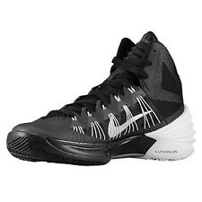 NIKE WOMENS HYPERDUNK 2013 TB BLACK-WHITE-SILVER BASKETBALL SHOES 6/7/7.5/9/9.5