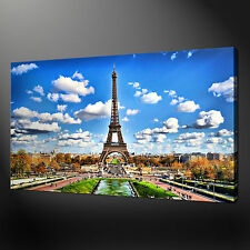 EIFFEL TOWER PARIS CANVAS WALL ART PICTURES PRINTS VARIETY OF SIZES