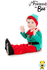 TODDLER KIDS CHILDRENS GIRLS BOYS CHILDS CHRISTMAS ELF COSTUME OUTFIT AGE 2-3-5