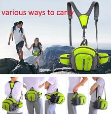 Unisex Waterproof Sport Waist Pack Fanny Bag Pouch Belt Travel Hip Zipper poctet