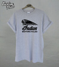 Indian Motorcycles T-shirt biker Logo Vintage Victory Motorbike Mens ladies Top