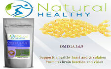 OMEGA 3,6,9 FISH OIL FATTY ACIDS SOFTGEL CAPSULES BY NATURAL HEALTHY