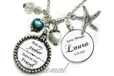 Personalized  Mother of the Bride Wedding Gift Necklace