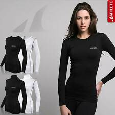 ATHLETE Ladies Running Fitness Basic Lightweight Compression Top Baselayer