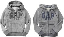 GAP Boys Logo Hoodie Hooded Sweatshirt Grey  XS,S,M,L,XL,2XL NEW NWT