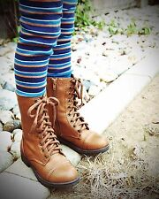 Brown Military Style Combat Boot Girls'