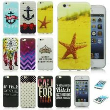 Latest Cute Anchor Bow Shine Design Soft TPU Back Case Skin Cover For iPhone5 5S