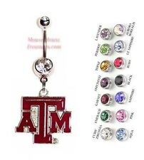 NCAA TEXAS A&M AGGIES AUTHENTIC LOGO CHARM DANGLE NAVEL BELLY RING! NRNHL-116