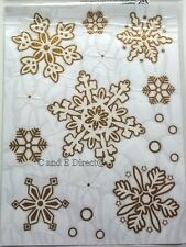 Christmas Decoration Window Cling Stickers Glitter Snowflakes 3 Colours NEW