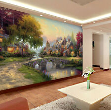 3D Dusk Garden Path wall Wall Murals Wallpaper Decal Decor  Kids Nursery Home