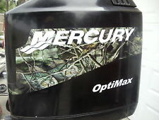 FISHOUFLAGE MERCURY BOAT MOTOR COWL DECAL SET- Choice of HP Rating & Eng Options