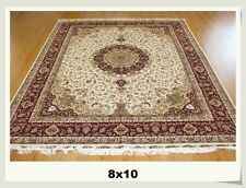 8' X 10'  Luxury Handmade Silk  Persian Oriental  Carpet 400 KPSI Part 1