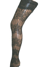 LADIES SEXY FISHNET FLORAL LACY LACE TOP HOLD UPS STOCKINGS NEW ONE SIZE 8 10 12