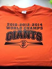 T-shirt SF GIANTS 3 time 10 12 2014 WORLD CHAMPIONS 3XL-Med San Francisco series