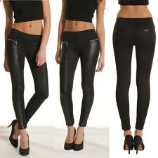 New High Waisted PU Leather Leggings Tights Jeggings Stretchy Skinny Warm Pants