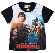 C BLACK BOYS COTTON HOW TO TRAIN YOUR DRAGON SUMMER T-SHIRT TOP