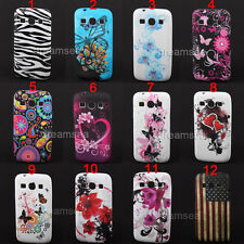 Butterfly Flowers Silicone Case Cover For Samsung Galaxy Core Plus SM-G350/G3502