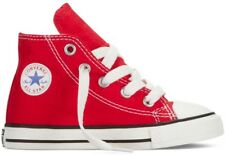 Converse Chuck Taylor Hi Top Red White Canvas For Toddlers (Little Kids) 7J232