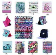 Cute For Apple iPad Air Mini 360 Rotating PU Leather Flip Case Smart Cover Stand