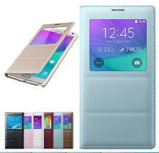Luxury S-View Window Flip Smart PU Leather Case Cover fr Samsung Galaxy Note4 IV