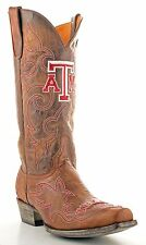 GAMEDAY BOOTS TEXAS A & M GIG 'EM AGGIES MEN'S LEATHER COWBOY WESTERN BOOTS NEW