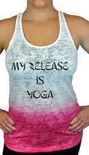 My Release is Yoga Ombre Burnout Racerback Tank Top, Yoga Workout Shirts & Tops