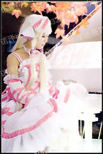 Hot Anime Chobits Chii White and Pink Dress Free Shipping