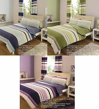 Duvet Cover With Pillow Case Bedding Set Quilt Cover Single Double King Stripe
