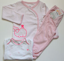 Carter's Just One You 3 Piece Baby Girl Outfit ~ Pink & White ~ Whale ~