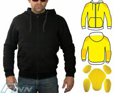 Mens Motorcycle Hoodie Protective Lined with Knitted Dupont™ Kevlar® CE Armour M