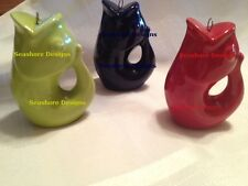 GURGLE POT Stoneware Mini Fish Shape CHRISTMAS Holiday ORNAMENT Gift New