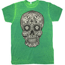 Sugar Skull Cross Bones Day of the Dead Flash  juniors women's