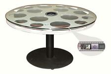 """Coffee Table Paramount Pictures 30"""" 35mm Aluminum Film Reel Home Theater Decor"""