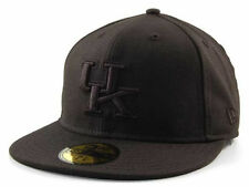 New Era 59Fifty Kentucky Wildcats Black on Black NCAA Fitted Cap Hat $35