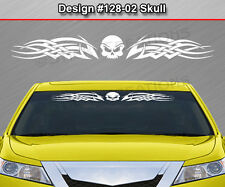 Design #128-02 SKULL Tribal Celtic Knot Windshield Decal Window Sticker Graphic