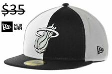 Miami Heat Men New Era 59Fifty Fitted NBA Basketball HWC Pro Hat CapTeam Apparel