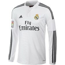 ADIDAS REAL MADRID LONG SLEEVE HOME JERSEY 2014/15 LA LIGA SPAIN.