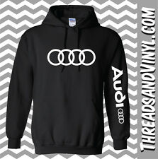 Audi Chest and Arm Hoodie Sweatshirt S- 5XL