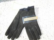$38 NWT WOMENS ISOTONER BLACK LEATHER MICROLUXE LINING DRIVING GLOVES XL/L