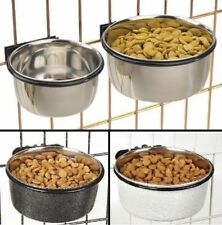 ProSelect Stainless Steel Coop Cup Dog food & Water Bowl  For Pet Cage or Crate