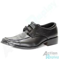 New Mens Nick Faux Leather Lace Up Formal Shoes - Black