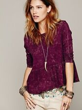 Free People We The Free Solid Peplum Tee NWT Sz XS S M L Top Tank Shirt